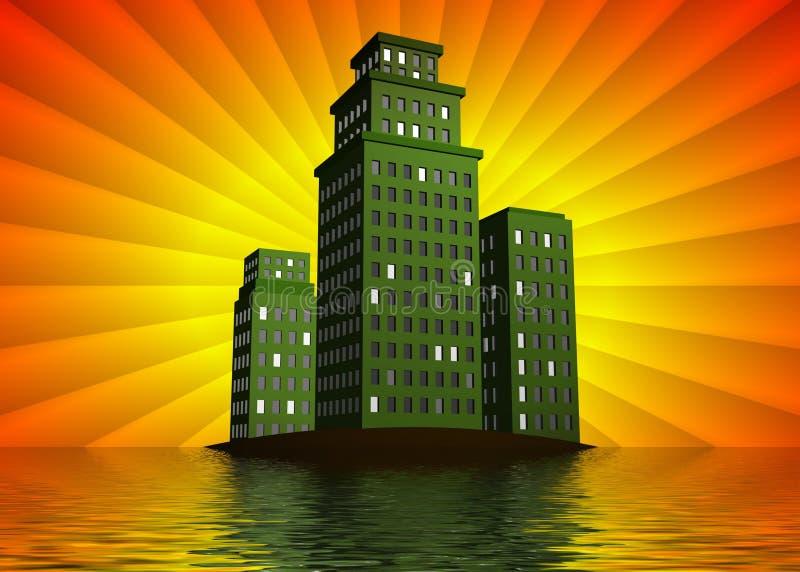 Groenere gebouwen royalty-vrije illustratie