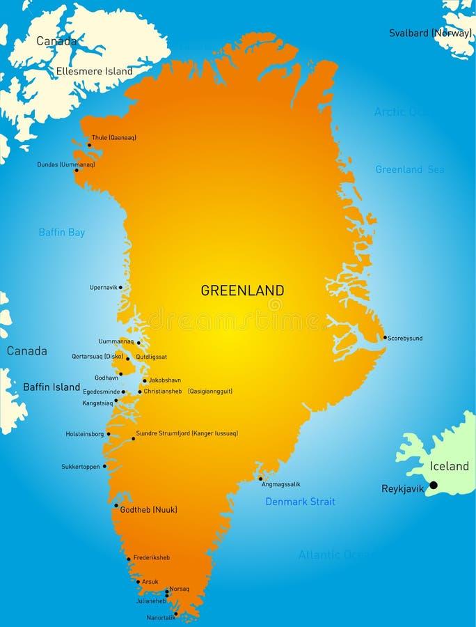 groenland vector illustratie