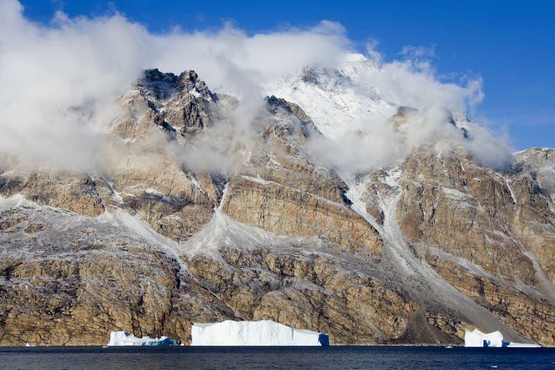 Groenland - Ijsbergen - Scoresbysund royalty-vrije stock fotografie