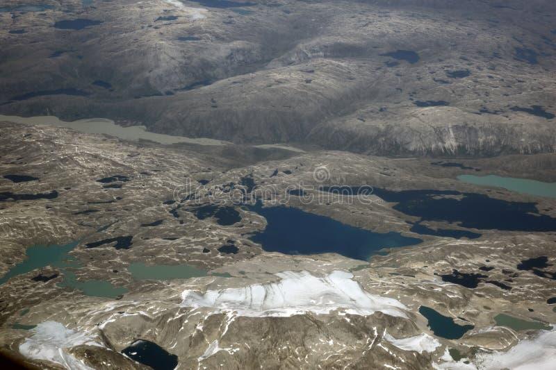 Groenland, luchtmening royalty-vrije stock afbeelding