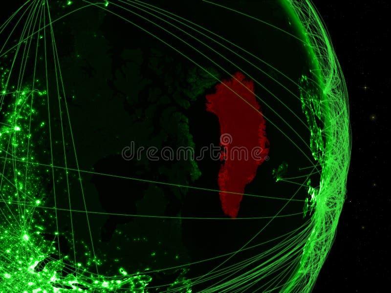 Groenland op groene Aarde royalty-vrije stock foto