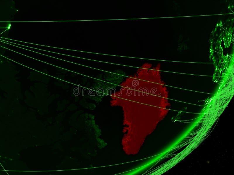 Groenlandia en la tierra verde libre illustration
