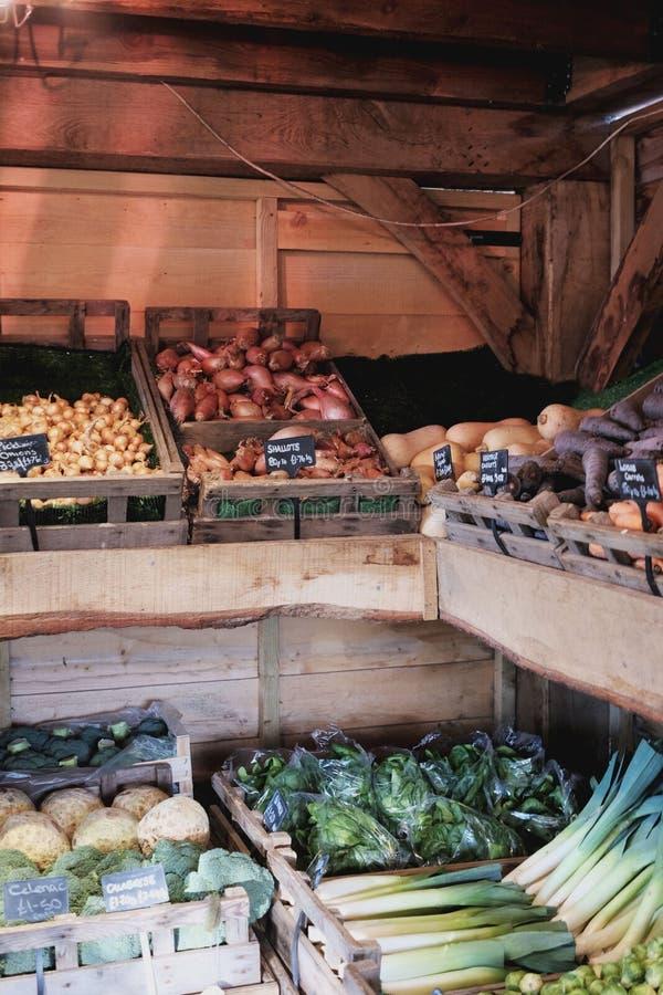 groentehandelaars stock foto