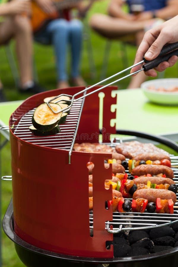 Groenten bij de grill royalty-vrije stock afbeelding
