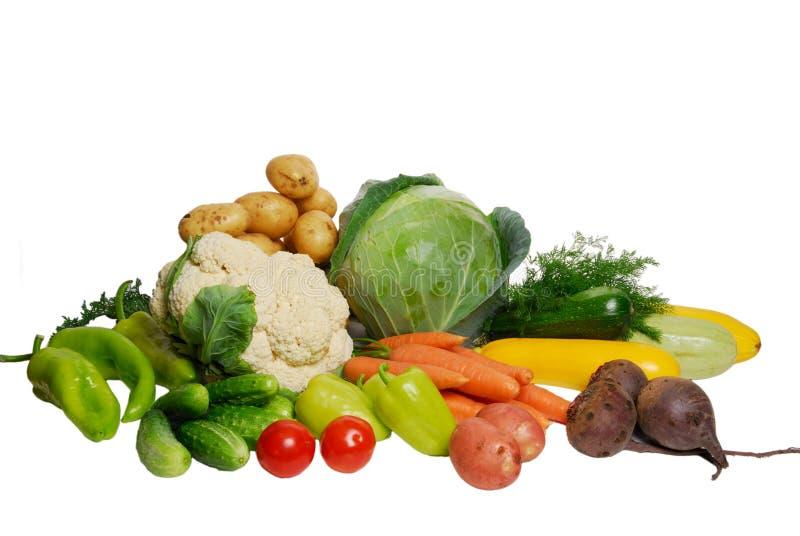 Groenten die op wit worden geïsoleerda stock afbeelding