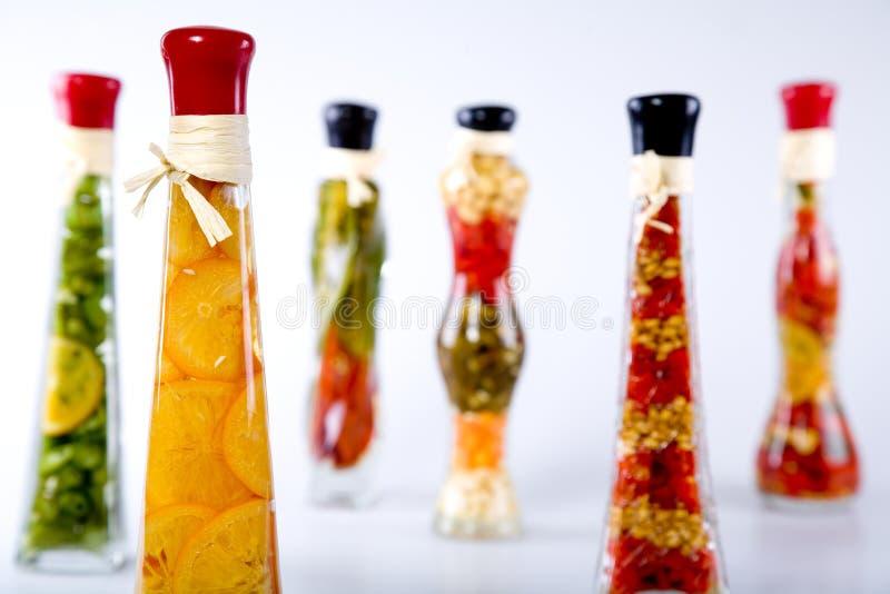Groenten in een fles stock afbeelding