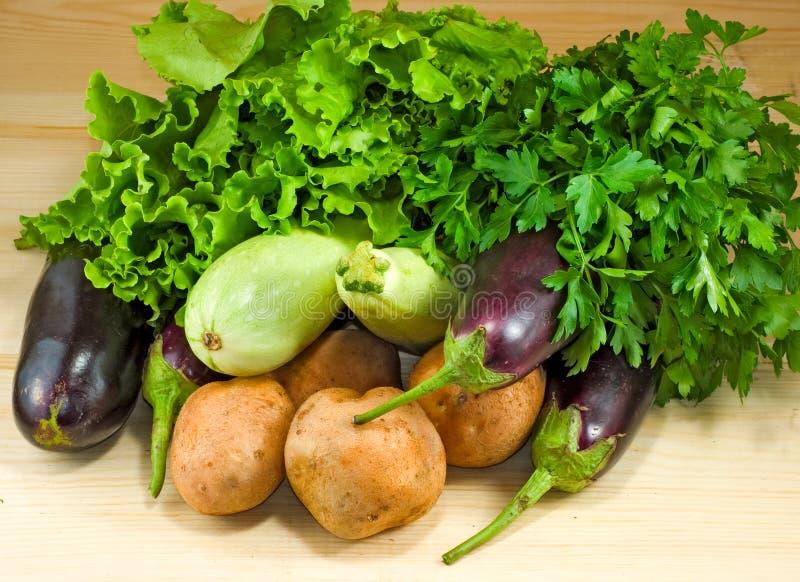 Groenten en kruidenclose-up stock afbeeldingen
