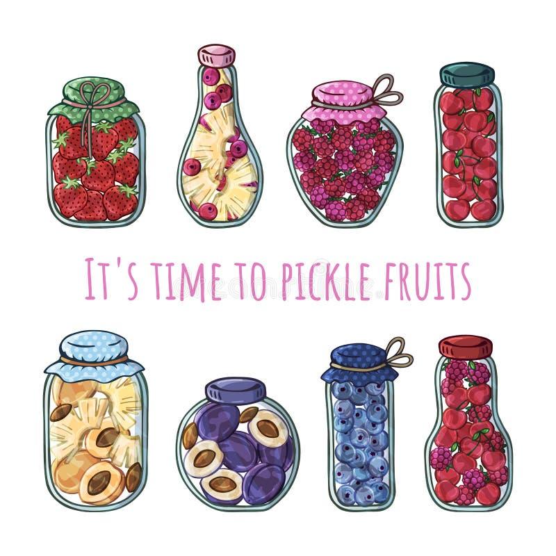 Groenten in het zuurvruchten vector illustratie