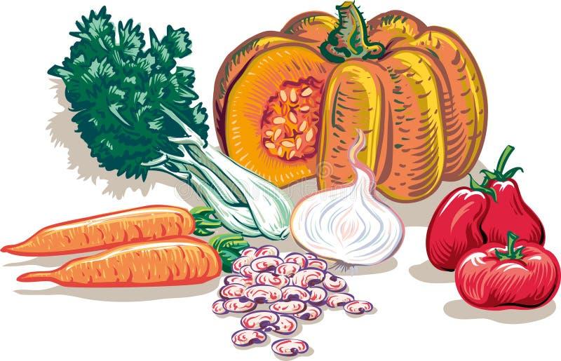 Groenten voor Soep royalty-vrije illustratie