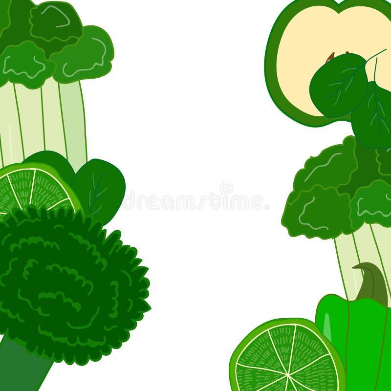 Groentenkader vector illustratie