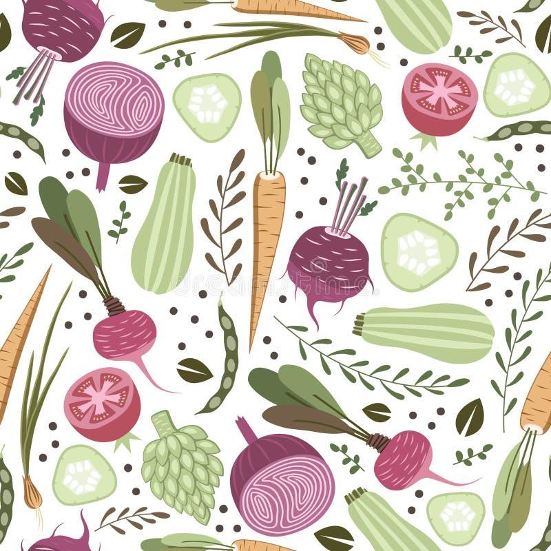 Groentenpatroon stock illustratie