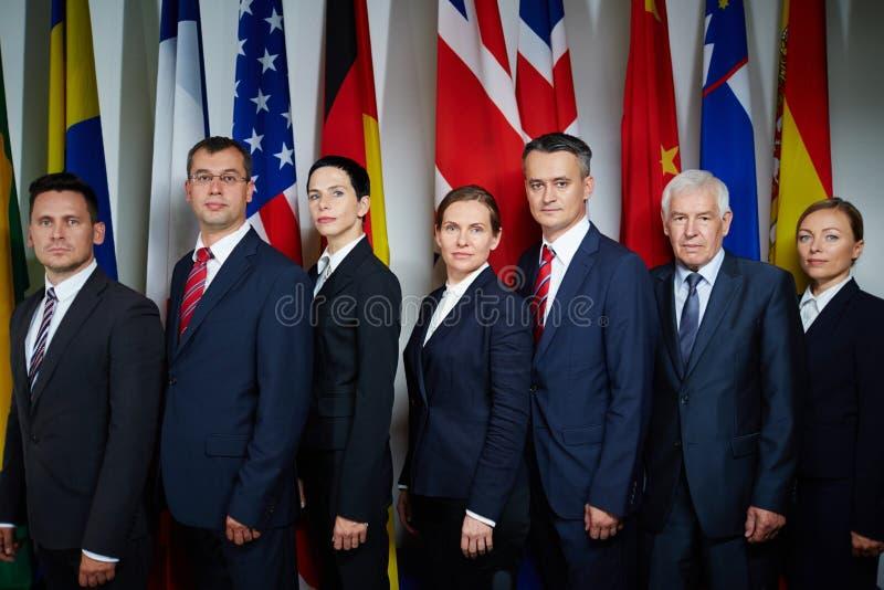 Groep afgevaardigden royalty-vrije stock foto's