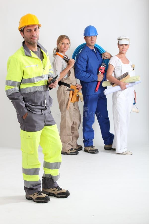 Groep arbeiders stock fotografie