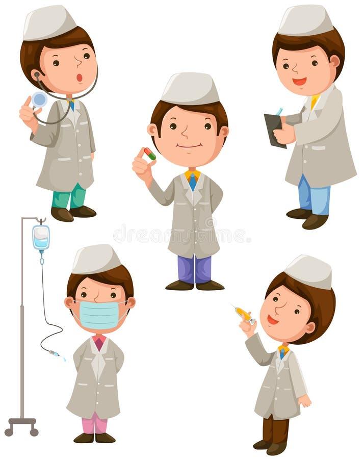 Groep artsen royalty-vrije illustratie