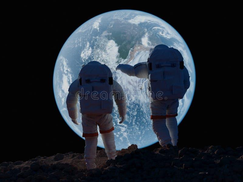 Groep astronauten vector illustratie