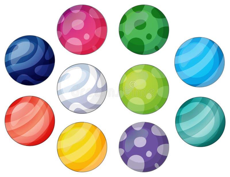 Groep ballen vector illustratie