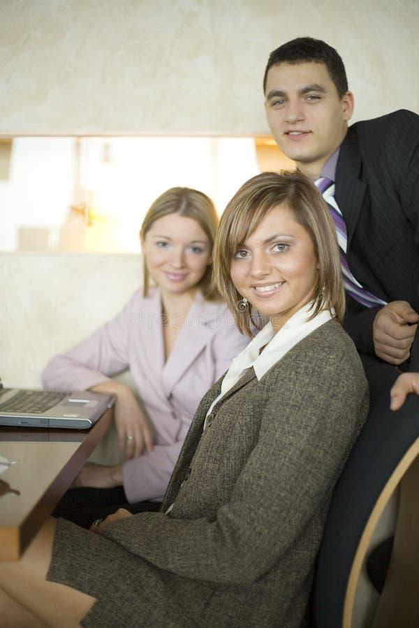 Groep BedrijfsMensen bij de Lijst stock afbeelding