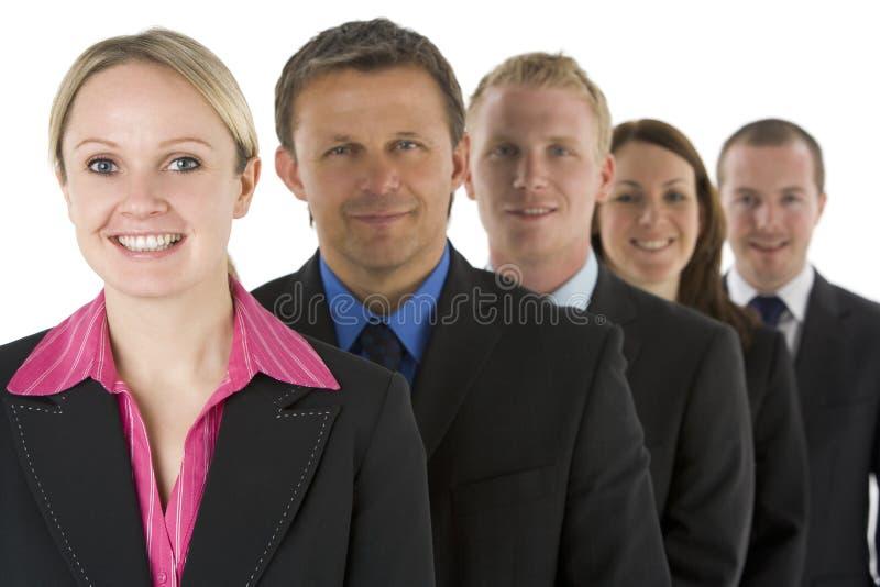 Groep BedrijfsMensen in het Glimlachen van de Lijn royalty-vrije stock fotografie