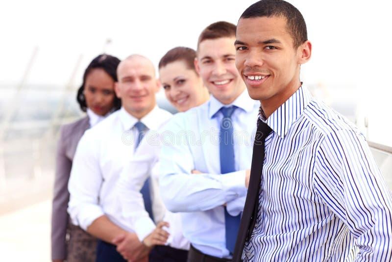 Groep bedrijfsmensen met zakenmanleider royalty-vrije stock afbeelding