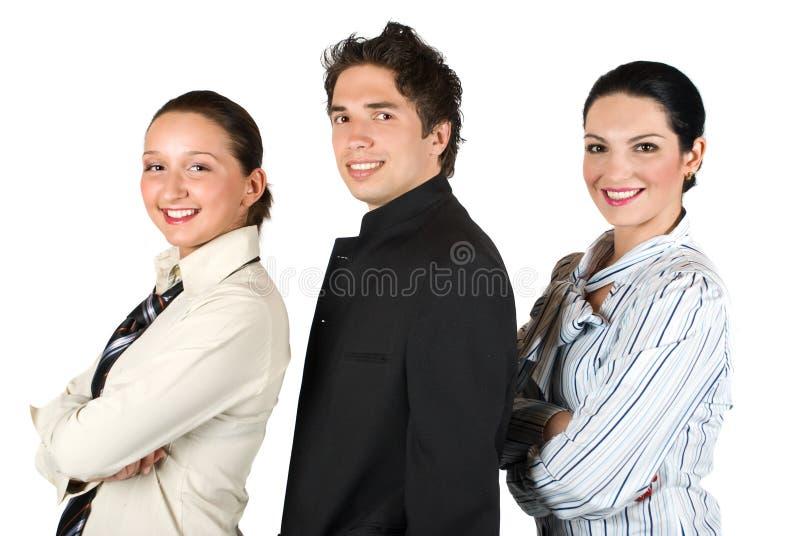 Groep bedrijfsmensen in profiel royalty-vrije stock fotografie