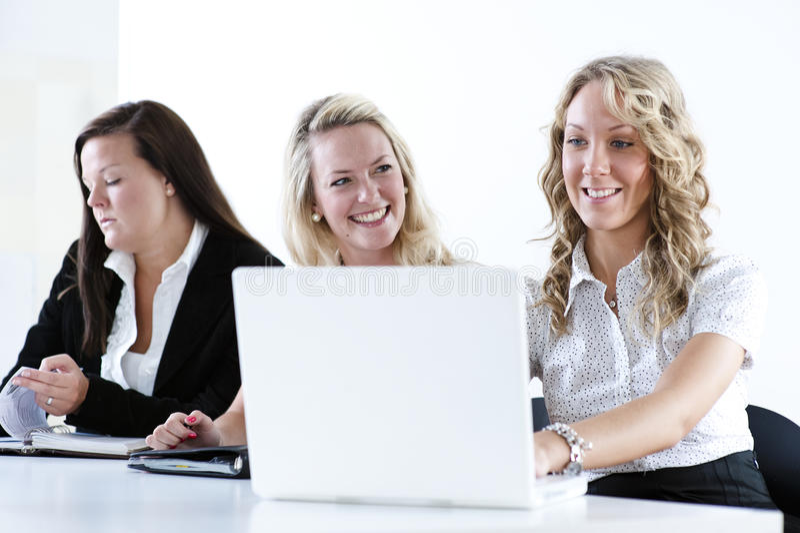 Groep bedrijfsvrouwen stock foto's
