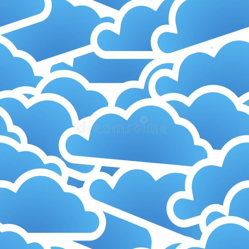 Groep blauwe wolken stock illustratie
