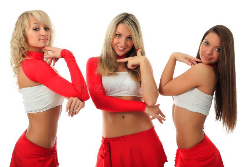 Groep cheerleader royalty-vrije stock afbeelding