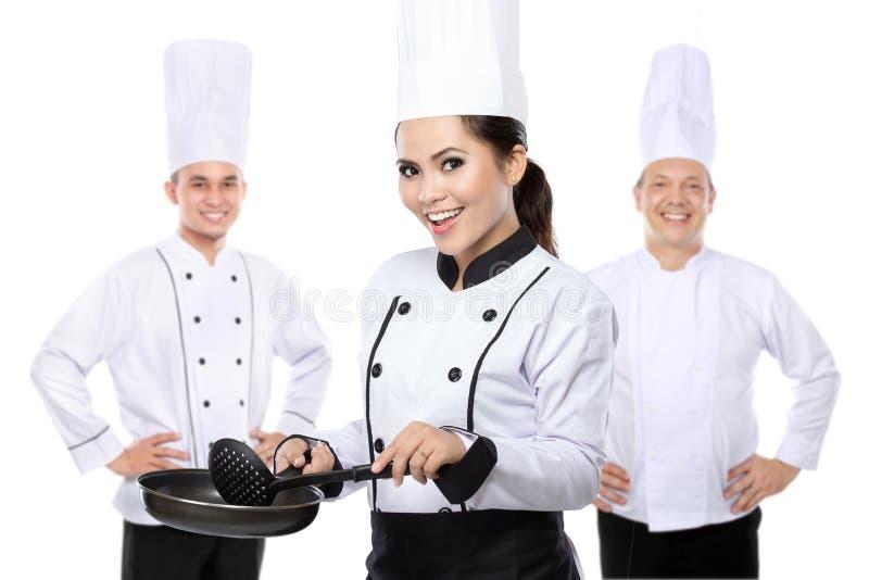 Groep chef-kok stock afbeelding