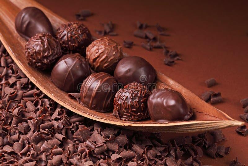 Groep chocolade royalty-vrije stock fotografie