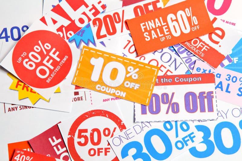 Groep coupon stock afbeeldingen