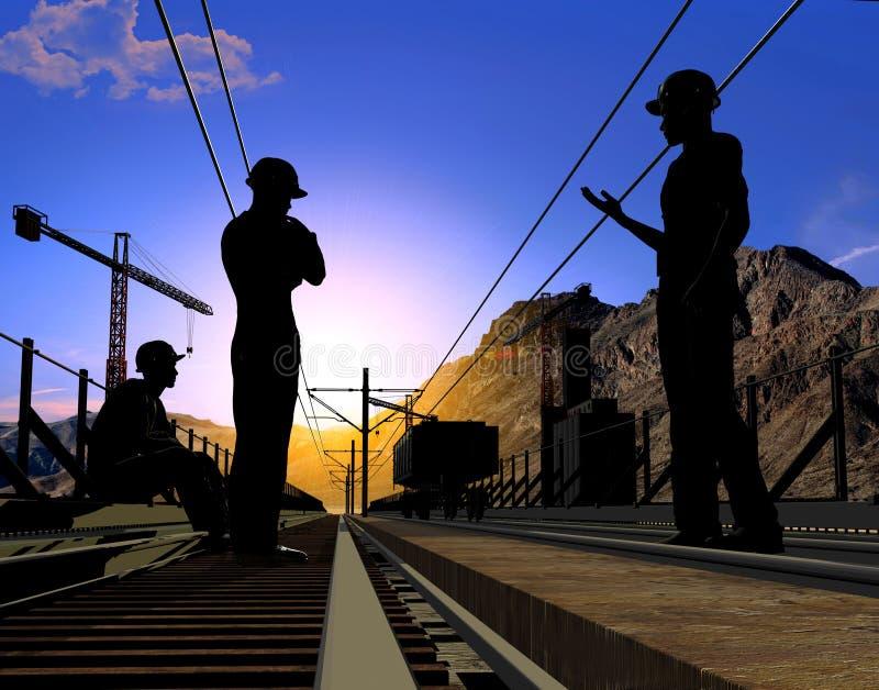 Download Groep de arbeiders stock illustratie. Illustratie bestaande uit huisvesting - 10780241