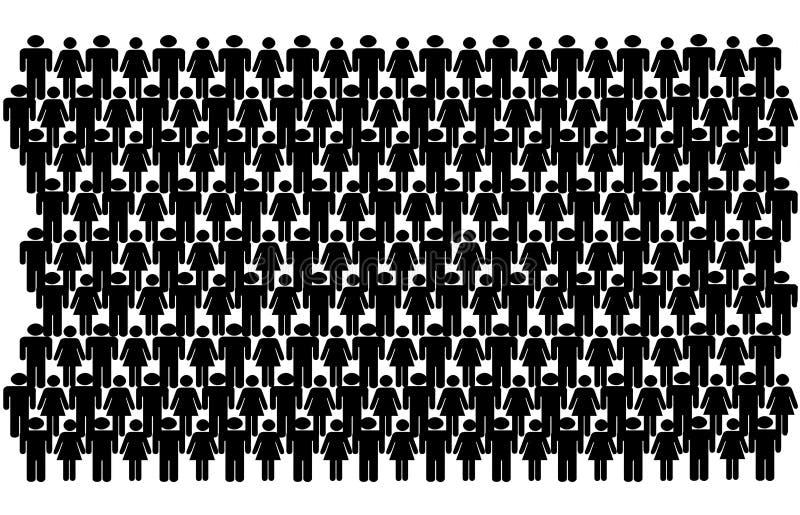 Groep de Mensen van de Stok stock illustratie