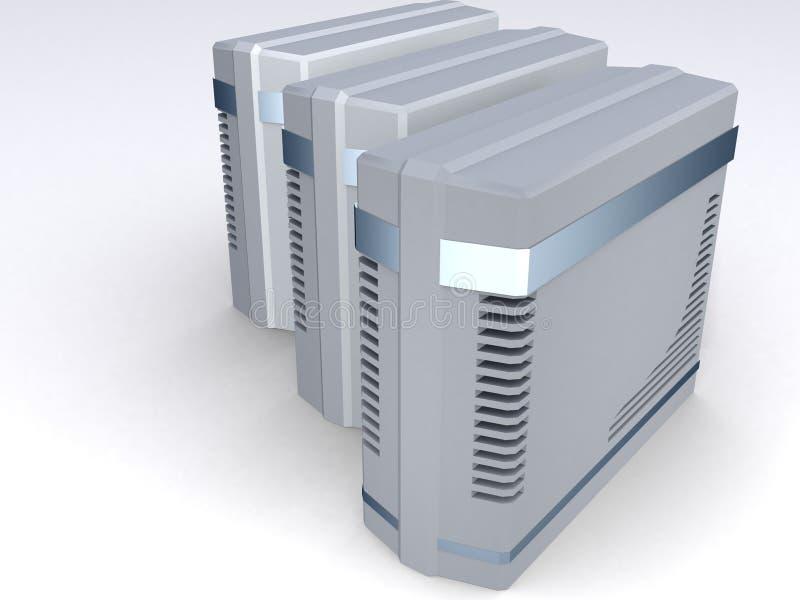 Groep de torens van de Computer royalty-vrije illustratie