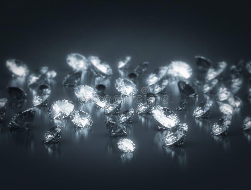 Groep Diamanten royalty-vrije illustratie