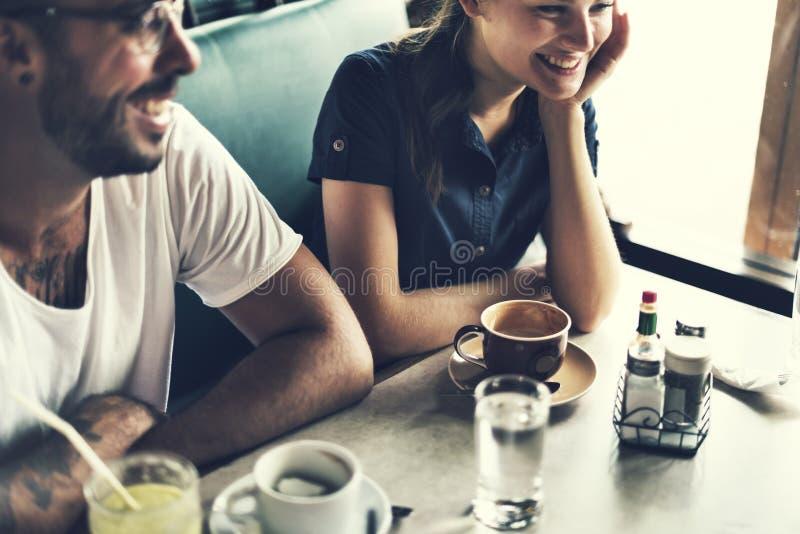 Groep die Mensen Koffieconcept drinken royalty-vrije stock afbeelding