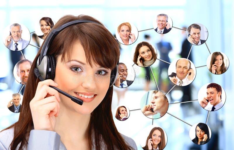 Groep die mensen op de telefoon spreken royalty-vrije stock foto