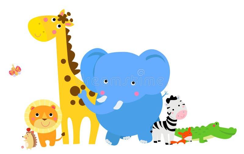 Groep dieren stock illustratie