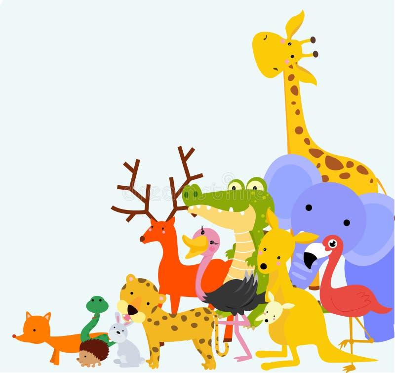 Groep dieren royalty-vrije illustratie
