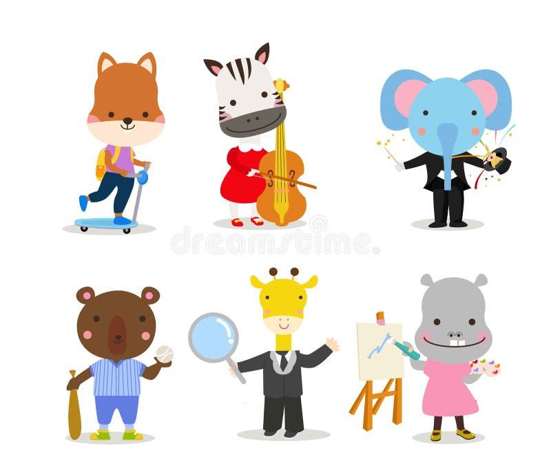 Groep dierenreeks royalty-vrije illustratie