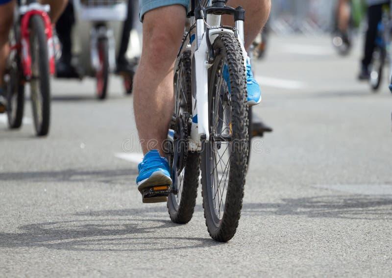 Groep een fietser stock fotografie