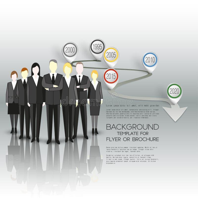 Groep een professionele commerciële team status vector illustratie