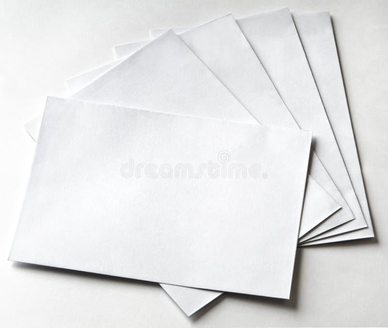 Groep enveloppen royalty-vrije stock afbeelding