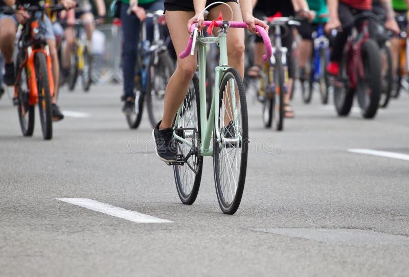 Groep fietser stock foto