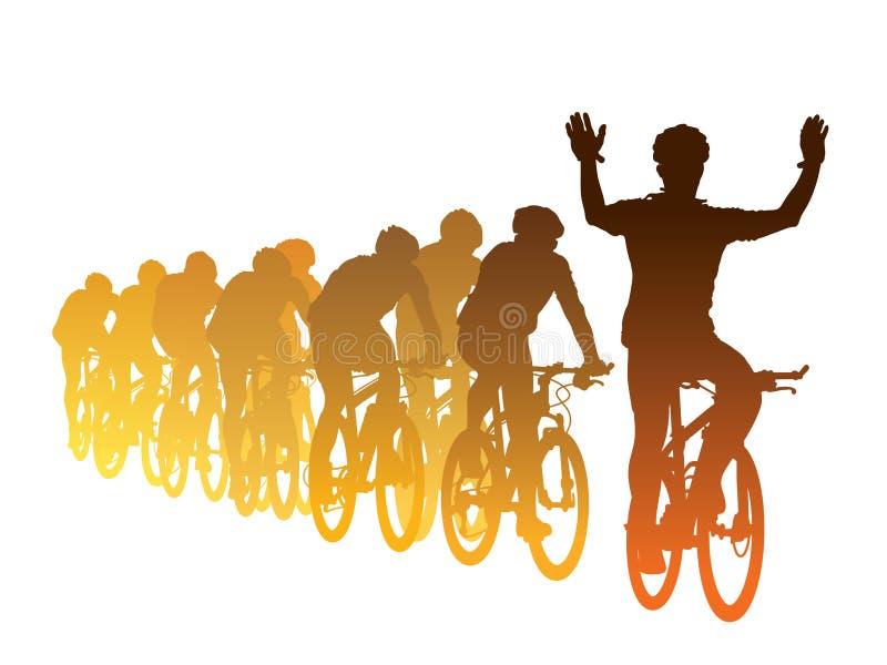 Het ras van de fiets vector illustratie