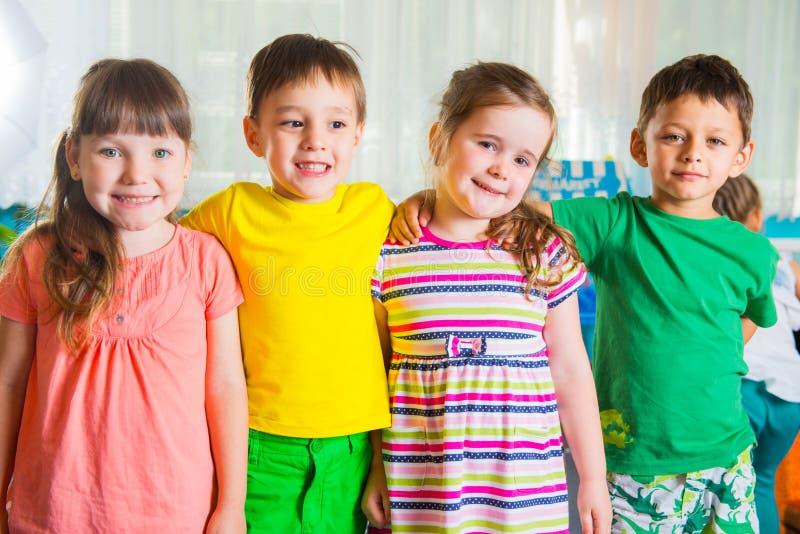 Groep fourpreschoolers royalty-vrije stock foto's