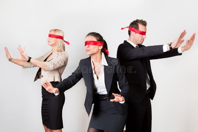 Groep gedesorienteerd businesspeople royalty-vrije stock fotografie