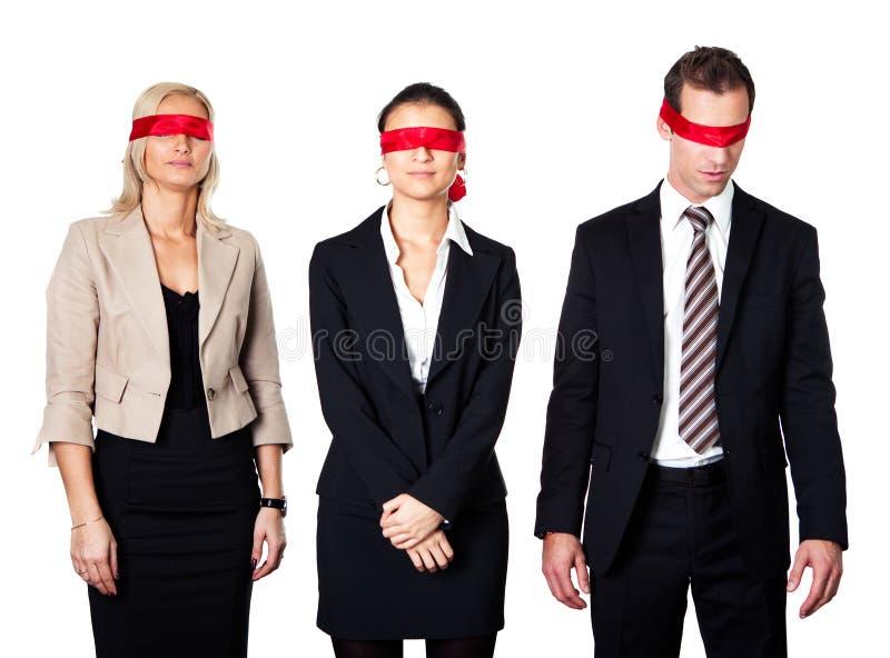 Groep gedesorienteerd businesspeople stock fotografie