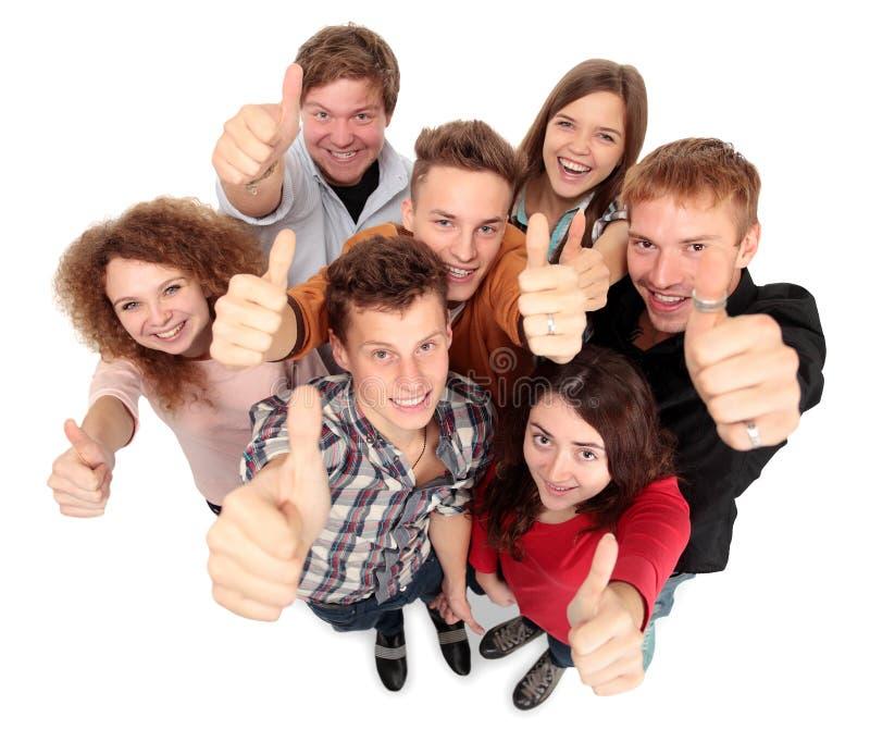 Groep gelukkige blije vrienden stock fotografie