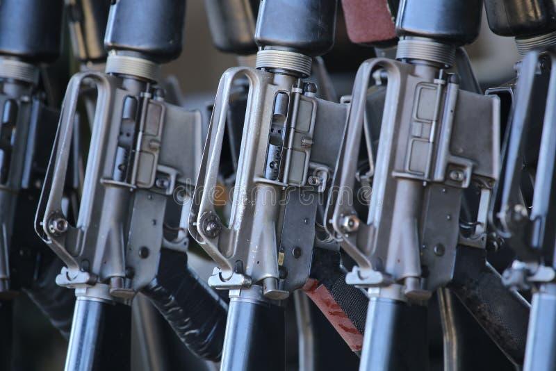 Groep geweren royalty-vrije stock afbeeldingen