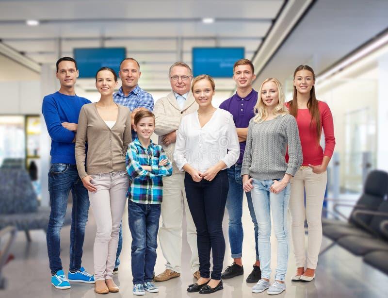 Groep glimlachende mensen royalty-vrije stock foto's